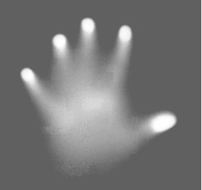 Hand in infrared