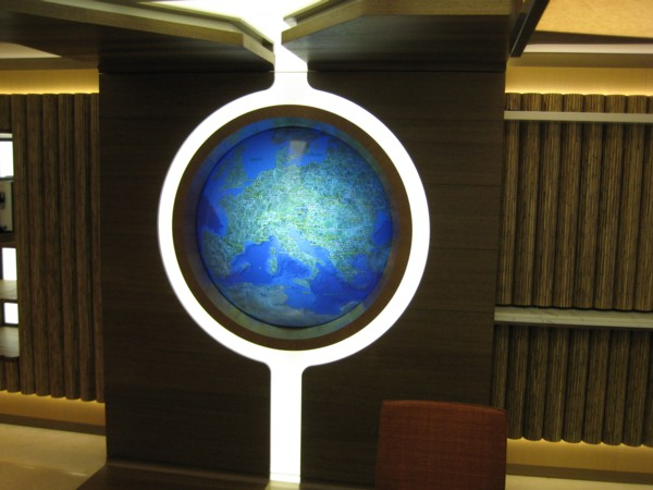 Interactive multi touch Globe on the ship: end state